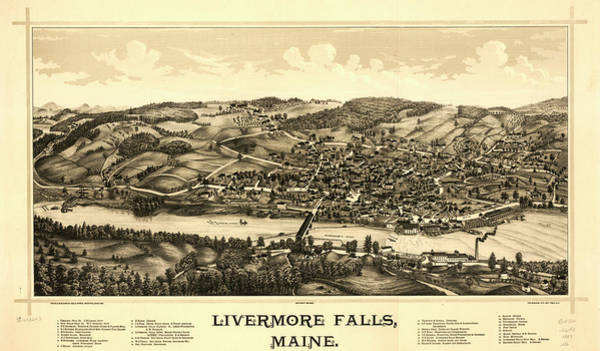 Livermore Wall Art - Painting - Livermore Falls, Maine by Norris
