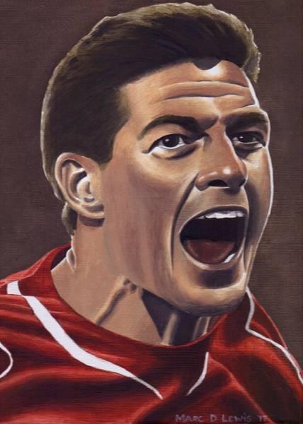 Steven Painting - Liverpool Fc - Steven Gerrard by Marc D Lewis