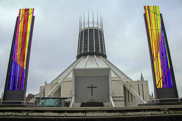 Photograph - Liverpool Metropolitan Cathedral by Tony Murtagh