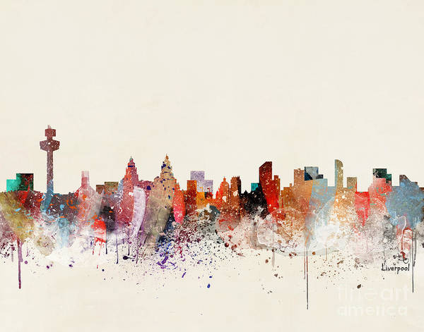 Wall Art - Painting - Liverpool Skyline by Bri Buckley