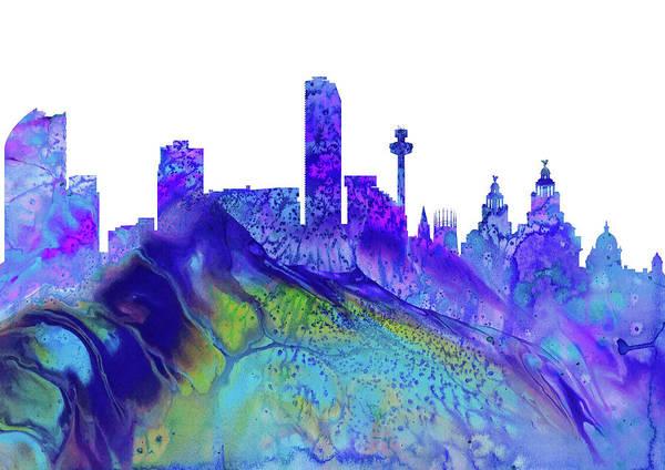Liverpool Skyline Digital Art - Liverpool Skyline by Erzebet S