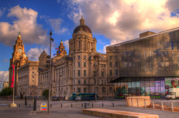 Liverpool Skyline Digital Art - Liverpool Skyline The Old And The New by Colin Bailey