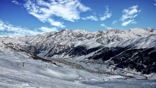 Photograph - Livigno Valley Winter Scene by Anthony Dezenzio