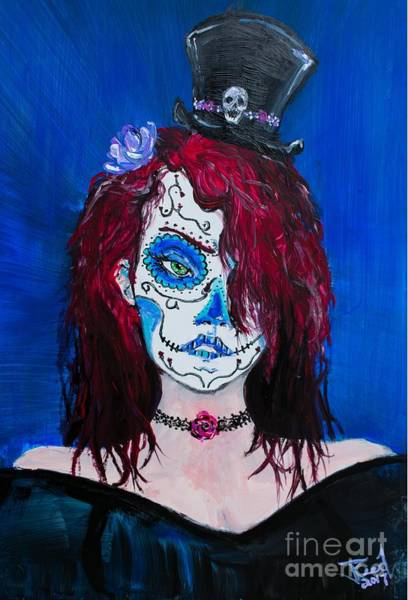 Painting - Living Dead Girl by Reed Novotny