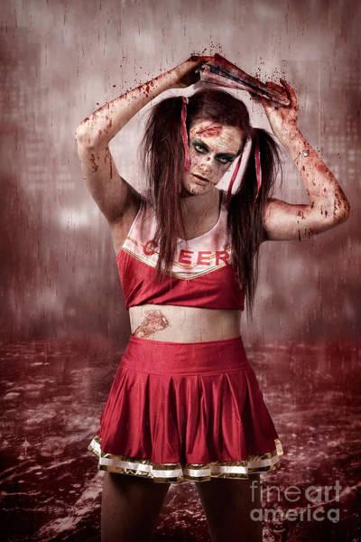 Wall Art - Photograph - Living Dead School Girl In Headline Nightmare by Jorgo Photography - Wall Art Gallery