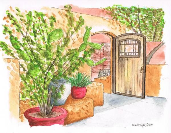 Acuarela Painting - Living Desert Botanical Garden - California by Carlos G Groppa