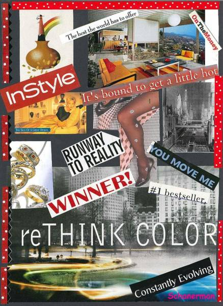Mixed Media - Living In Style by Susan Schanerman