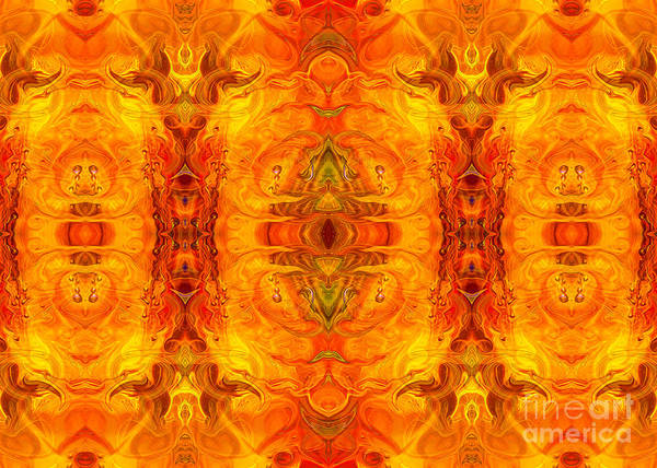 Digital Art - Living Passion Abstract Bliss  By Omashte by Omaste Witkowski