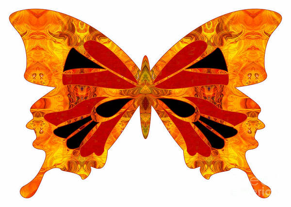 Digital Art - Living Patterns And Abstract Butterflies By Omashte by Omaste Witkowski