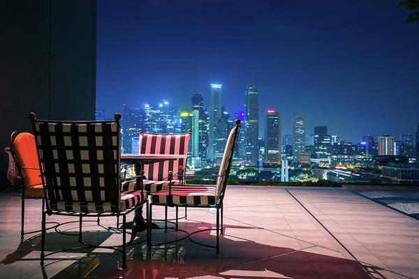 Hongkong Photograph - Living Room And Relax Corner On Roof Top Of Hotel In Singapore by Anek Suwannaphoom