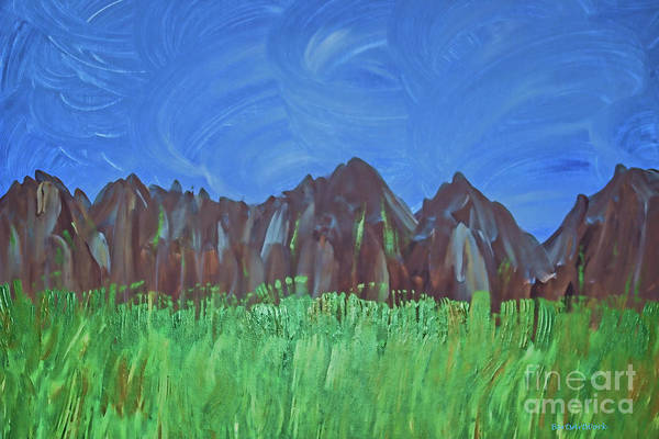 Photograph - Acrylic Mountain Range by Roberta Byram