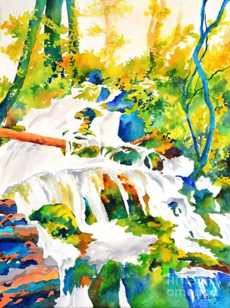 Painting - Living Water #2 by Betty M M   Wong