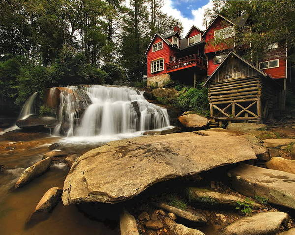 Mill Shoals Falls Wall Art - Photograph - Living Waters by Jeff Burcher