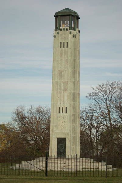Belle Isle Photograph - Livingstone Memorial Light by Michael Peychich