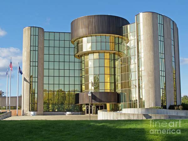 Livonia Photograph - Livonia City Hall by Ann Horn