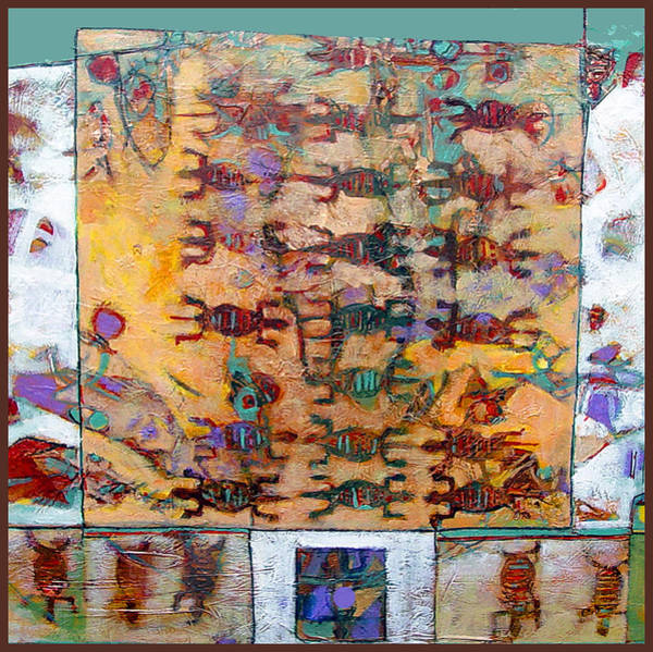 Petroglyphs Digital Art - Lizard Abacus by Dale  Witherow