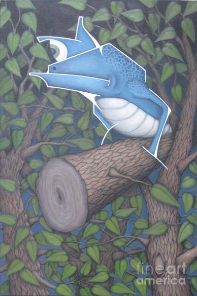 Wall Art - Painting - Lizard Log by Kevin J Graham