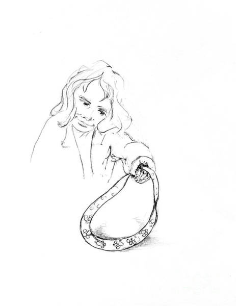 Hund Drawing - Lizzy Finds Dash A Collar by Dorothy Hilde