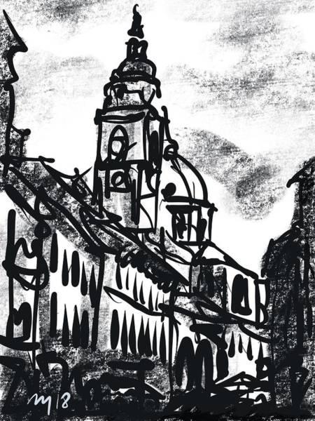 Ljubljana Wall Art - Drawing - Ljubljana 06 by Ugljesa Janjic