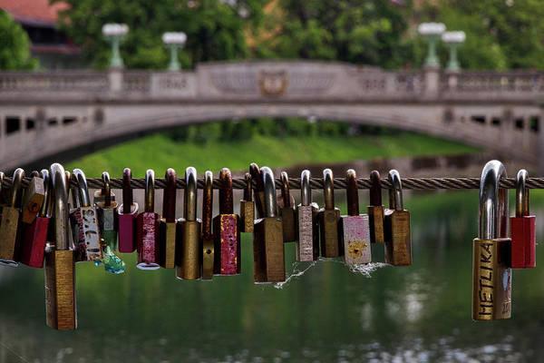 Photograph - Ljubljana Love Locks - Slovenia  by Stuart Litoff