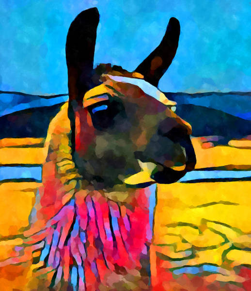 Alpaca Painting - Llama by Chris Butler