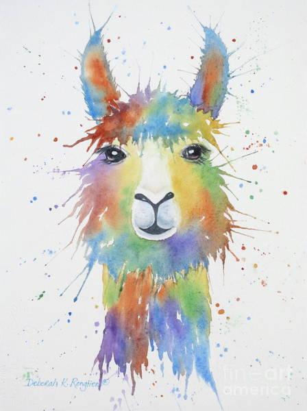 Alpaca Painting - Llama by Deborah Ronglien