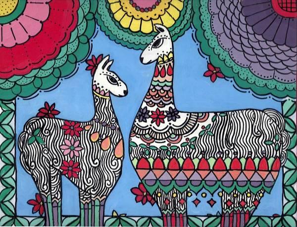 Painting - Llama Mama by Caroline Sainis