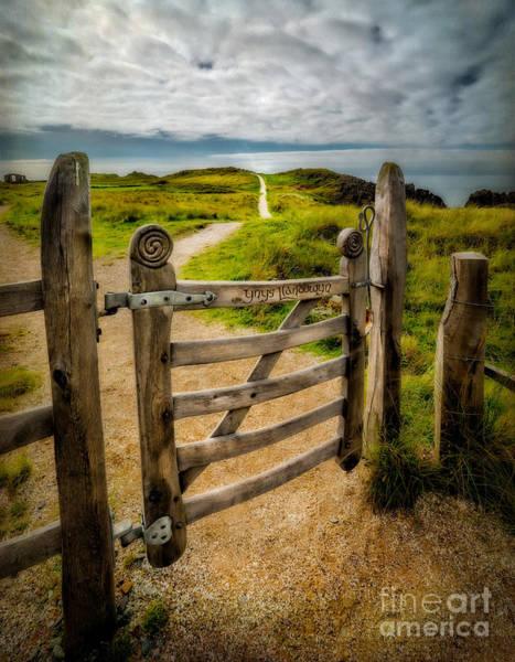 Lock Gates Photograph - Llanddwyn Island Gate by Adrian Evans