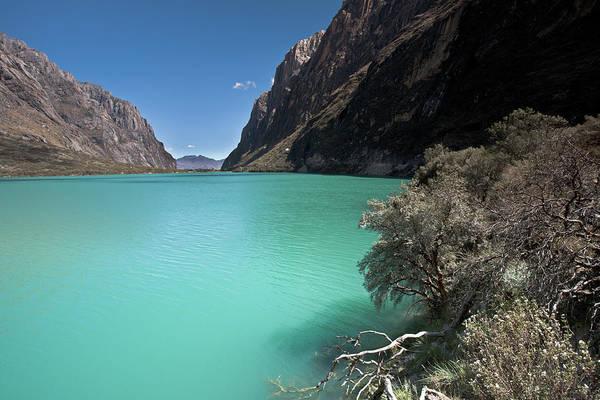 Photograph - Llanganuco Lakes In Cordillera Blanca by Aivar Mikko