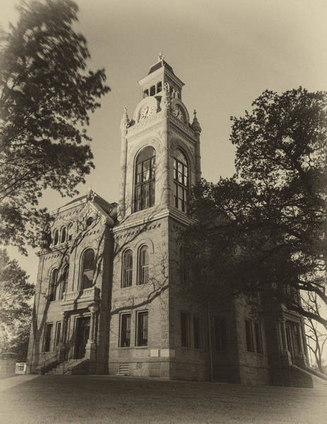 Courthouse Towers Wall Art - Photograph - Llano County Courthouse - Vintage by Stephen Stookey