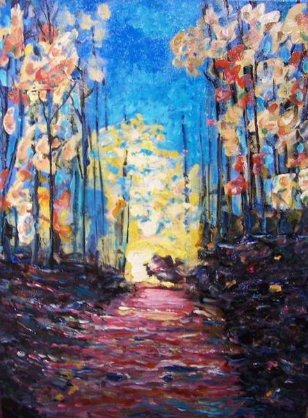 Painting - Lloyd-demarest State Park by Ray Khalife