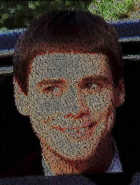 Jim Carrey Painting - Lloyd Quotes Mosaic by Paul Van Scott