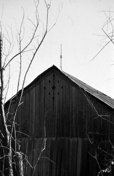 Photograph - lloyd-shanks-barn-1BW by Curtis J Neeley Jr