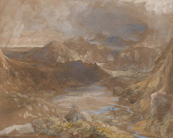 Painting - Llwyngwynedd And Part Of Llyn-y-ddina Between Capel Curig And Beddegelert by Samuel Palmer