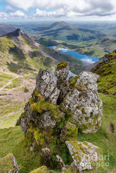 North Wales Wall Art - Photograph - Llydaw And Glaslyn Lakes by Adrian Evans