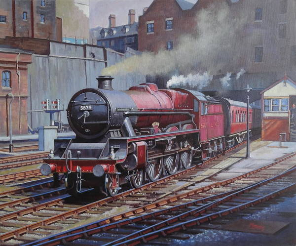 Loco Wall Art - Painting - Lms Jubilee At New Street. by Mike Jeffries