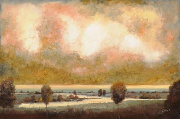 River Painting - Lo Stagno Sotto Al Cielo by Guido Borelli