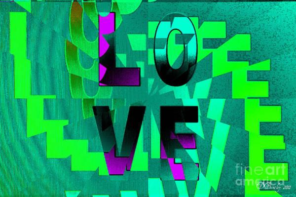 Digital Art - Lo Ve by Donna Bentley