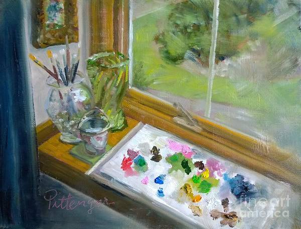 Painting - Load The Palette by Lori Pittenger