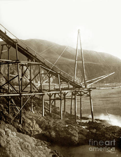 Photograph - Loading Chute At Bixby Landing And Creek Big Sur  Circa 1885 by California Views Archives Mr Pat Hathaway Archives