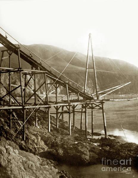 Photograph - Loading Chute At Bixby Landing And Creek Big Sur  Circa 1885 by California Views Archives Mr Pat Hathaway Archives