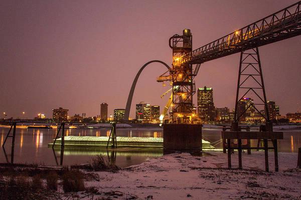 Photograph - Loading Grain At Cargil St Louis by Garry McMichael