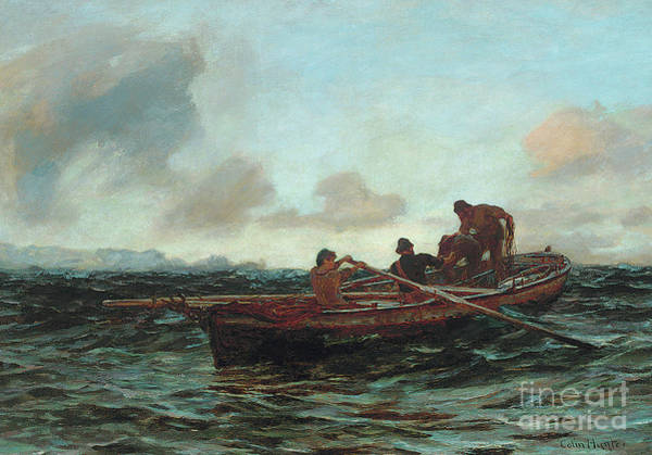 Wall Art - Painting - Loading The Catch  by Colin Hunter