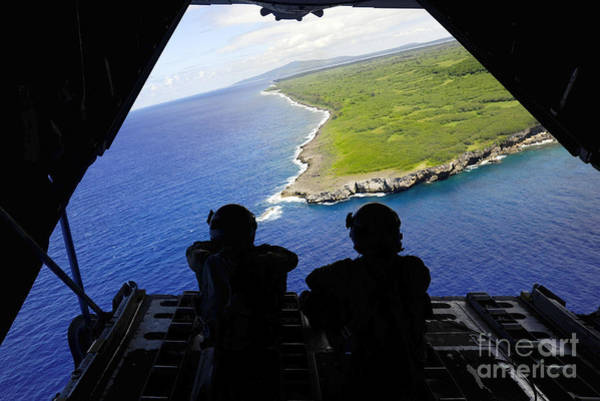 C 130 Photograph - Loadmasters Look Out Over Tumon Bay by Stocktrek Images