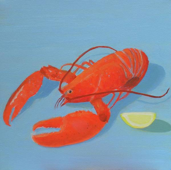 Lobster And Lemon Art Print