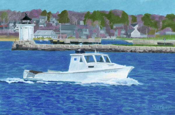 Pastel - Lobster Boat And Bug Light by Dominic White