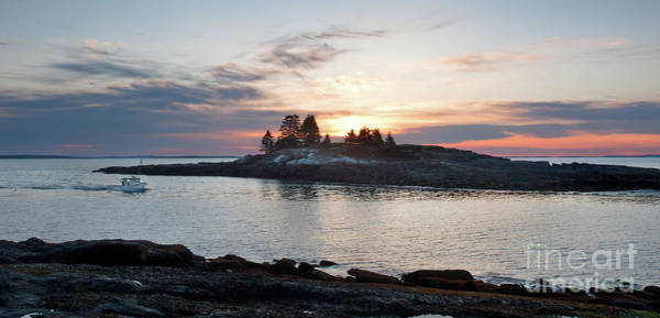 Photograph - Lobster Boat At Dawn, New Harbor, Maine #8200-8203 by John Bald