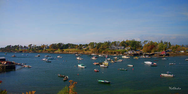 Lobster Boats On The Coast Of Maine Art Print