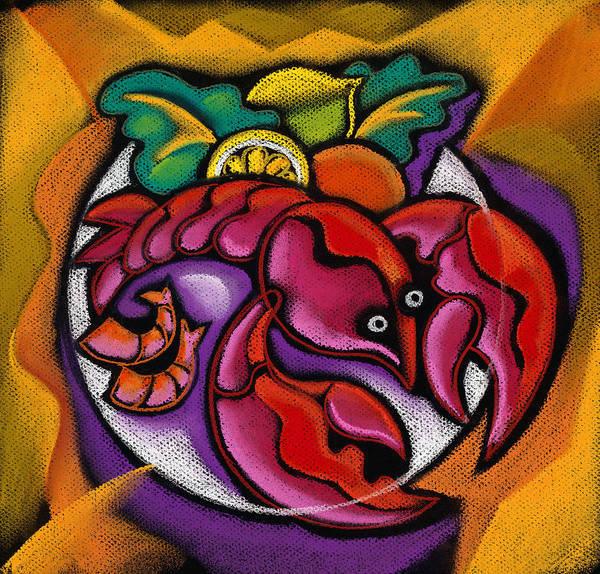 Yummy Painting - Lobster by Leon Zernitsky