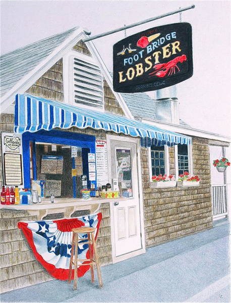 Colored Pencil Drawing Drawing - Lobster Shack by Glenda Zuckerman
